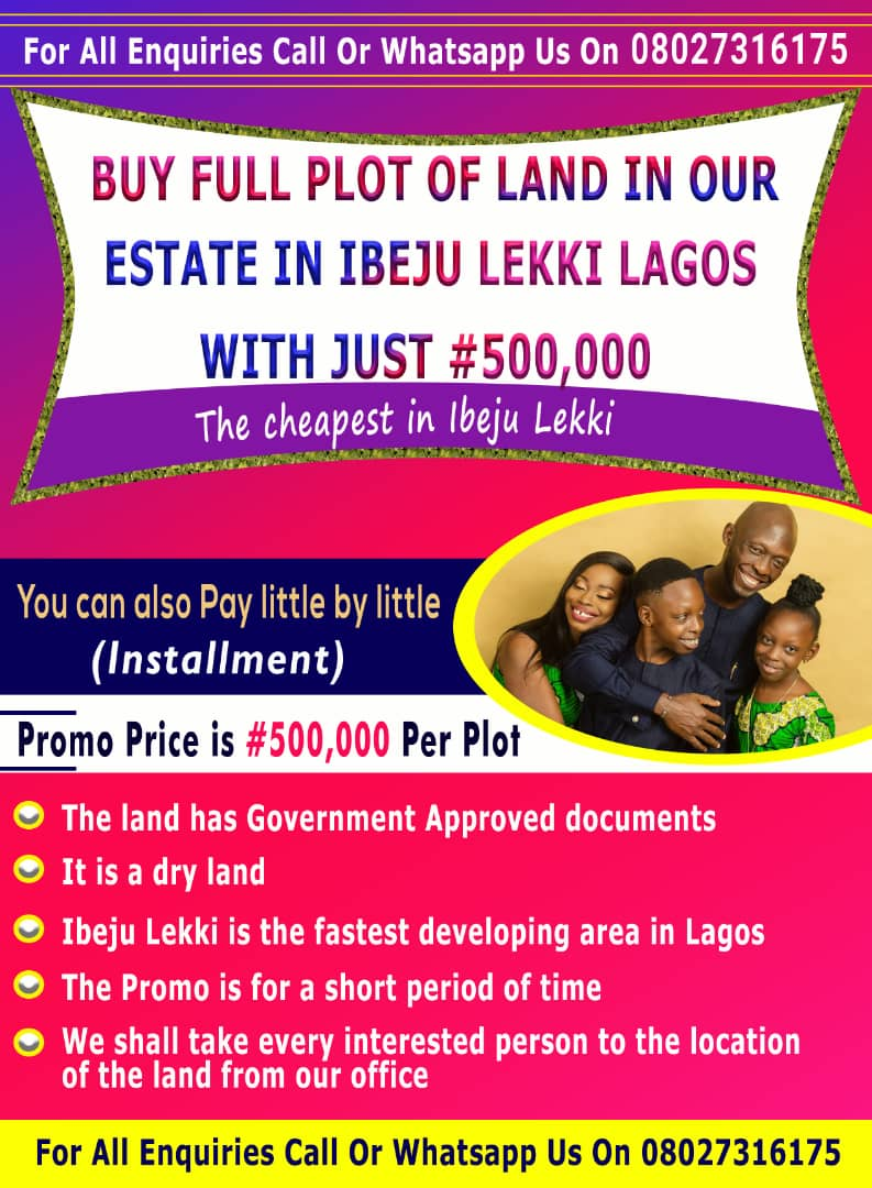 Easy Way To Become A Landlord In Ibeju Lekki Lagos